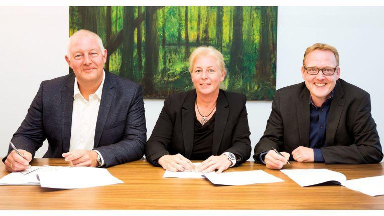 Die Gesellschafter der Kölner Systemhaus Cramer GmbH: von links Stephan Schmidt, Dagmar Schmidt und Christian Cramer.