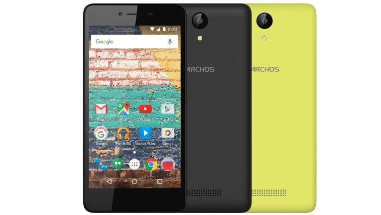 Das Archos 50e Neon, mit Dual-SIM, Quad-Core sowie Wechselcover in Zitrusgelb und Nachtschwarz, steht ab sofort für unter 80 Euro in den Läden.