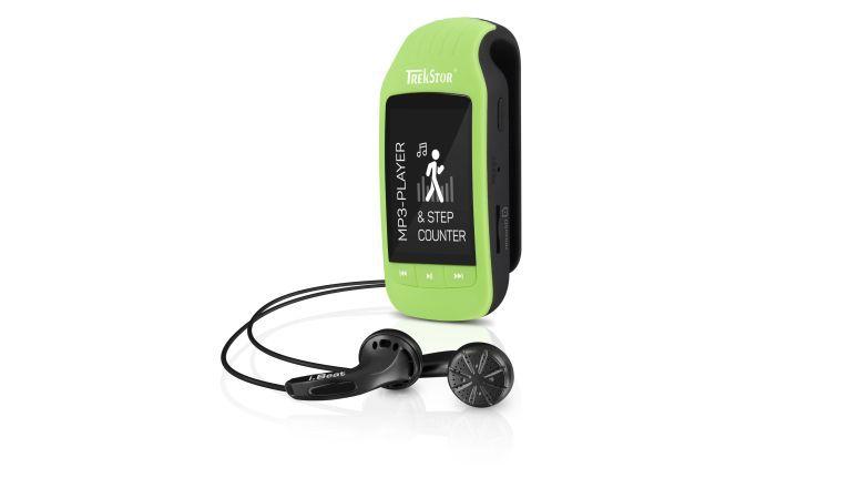Der MP3-Player TrekStor i.Beat jump BT macht nicht nur Musik sondern zählt auch Schritte und Kalorien.