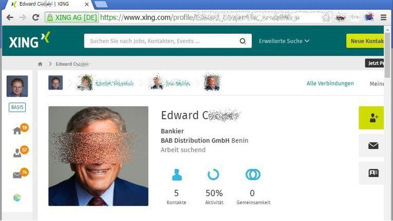 Am 19. Juli 2016 ist ein Xing-Profil des angeblichen BAB-Mitarbeiter Edward C. aufgetaucht. Dieser Mann ist bei dem Distributor aber unbekannt.