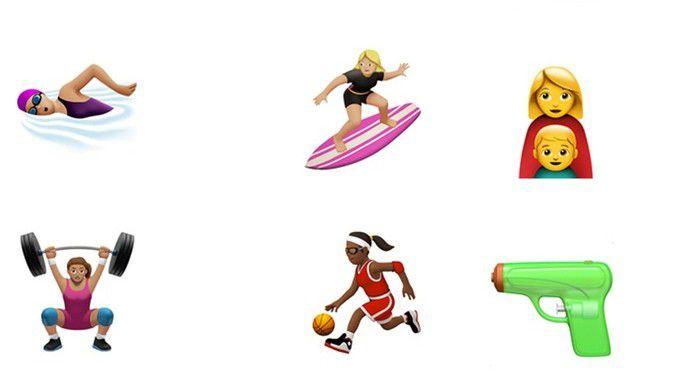Die neuen Emojis von Apple sollen für mehr Geschlechtergerechtigkeit sorgen. Außerdem wird der Pistolen-Emoji durch eine Wasserpistole ersetzt.