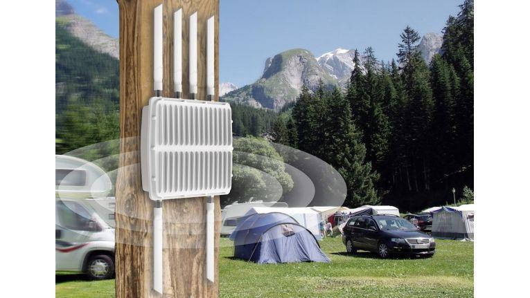 Speziell für den Outdoor-Betrieb und erschwerte Industrie-Bedingungen konzipiert - ein Funknetz für draußen bietet Devolos WiFi pro 1750x.