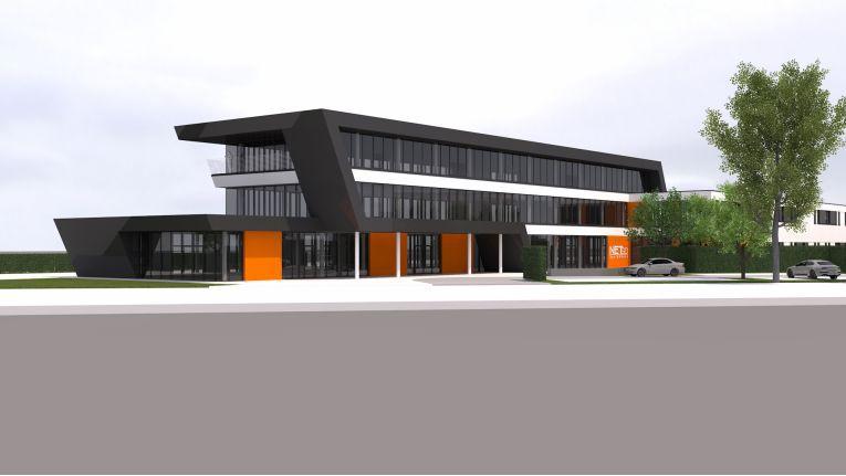 So futuristisch wird der Netgo Campus in Borken 2018 aussehen.