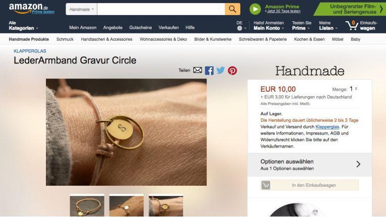 """Schaut auf den ersten Blick gar nicht nach Amazon aus: Das neue """"Handmade at Amazon"""""""