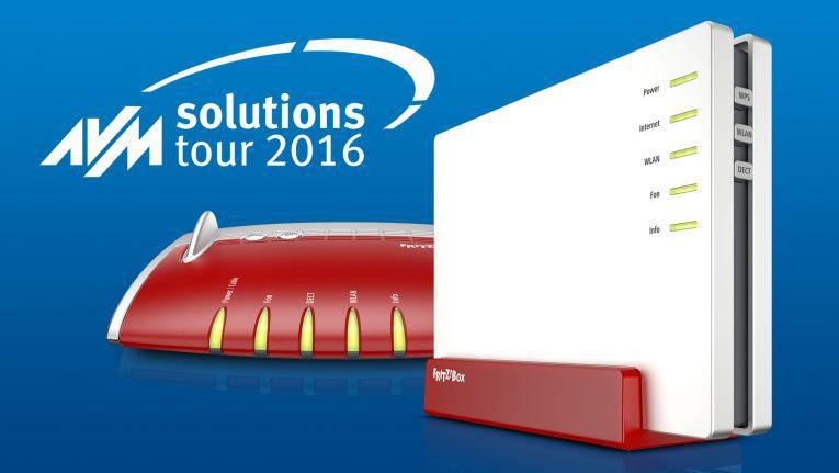 18 Termine und 16 Locations: Die AVM-Roadshow AVM Solutions Tour 2016 findet zwischen dem 25. Oktober und 1. Dezember statt.
