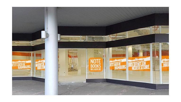 Hier wird noch gebaut, doch am 15. Oktober eröffnet der neue Notebooksbilliger-Store in Hamburg