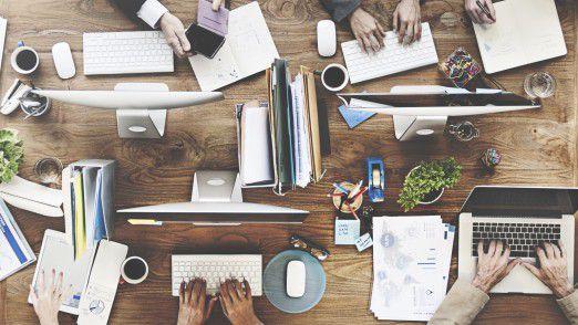 Rund 81 Prozent der Erwerbstätigen arbeiten schon heute mit Computern.