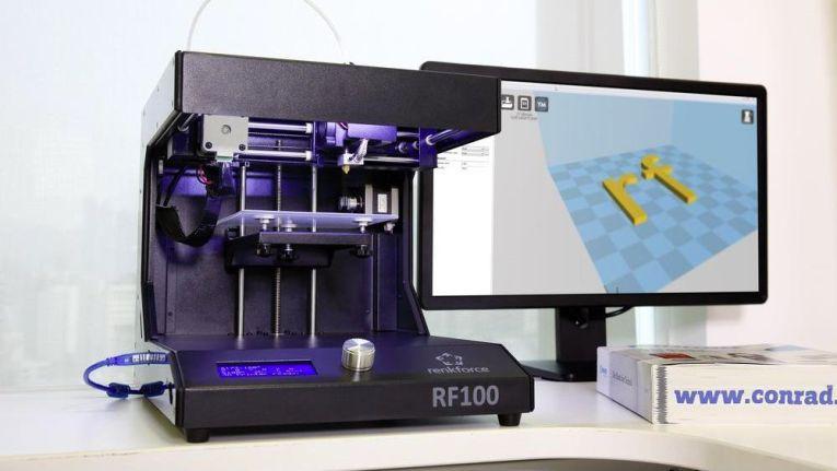 Der neue 3D-Drucker Renkforce RF100 ist laut Conrad für Einsteiger perfekt geeignet