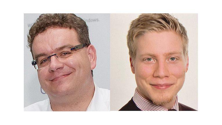 Markus Klein (Senior IT Architect) und Lennart Passig (IT-Architect) von Orange Networks GmbH