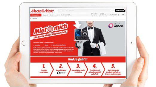 """Die """"Mietwochen"""" sind das neueste Pilotprojekt von Media Markt bei dem Kunden im Internet zunächst zwischen 500 Produkten auswählen können."""