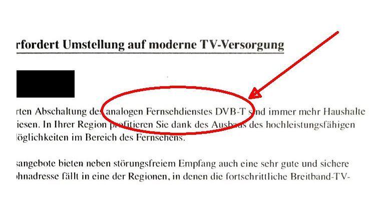 Eine Erfindung des Telekommunikationskonzerns Vodafone: Das ''analoge'' Digital Video Broadcasting Terrestrial (DVB-T).