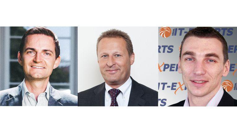 v.l.: Uwe Kannegießer (GoTo Market Bereichsleiter bei teamix), Martin Hörhammer (Vorstand von Medialine EuroTrade) und Oliver Lorenz (Geschäftsführer von Dögel IT-Experts)