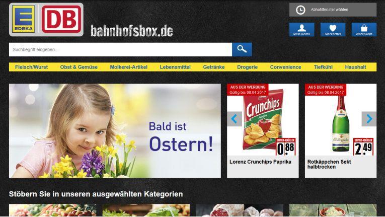 Edeka und die Bahn testen mit der Stuttgarter Bahnhofsbox eine neue Form des Lebensmitteleinkaufs.