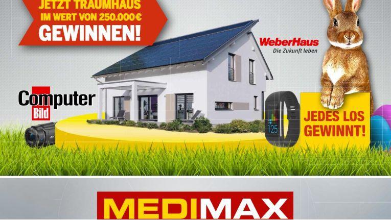 Gleich ein ganzes Haus gibt es als Hauptgewinn bei der Medimax Osteraktion 2017