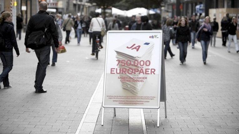 Bereits 2009 sammelte eBay mit einer Petition gegen Vertriebsbeschränkungen europaweit mehr als 750.000 Unterschriften.
