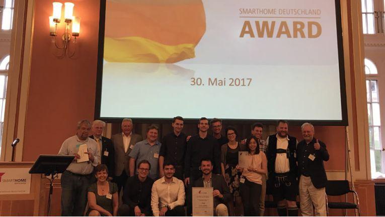 Gewinner und Mitglieder der Jury beim Smart Home Award 2017.