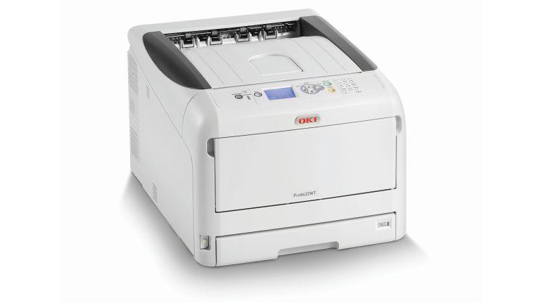 Der A3-LED-Drucker OKI Pro8432WT kann auch in weiß drucken.