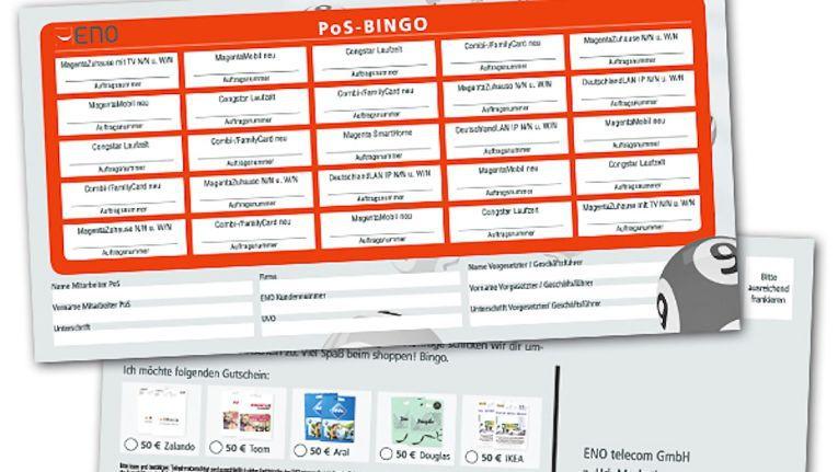 ENO hofft mit der Aktion auf einen großen Vermarktungserfolg und auf viele eingereichte PoS-Bingo-Karten.