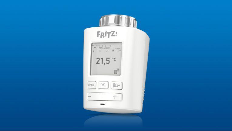 Der neue intelligente Heizkörperregler Fritzdect 301 ist mit einem E-Paper-Display ausgestattet.
