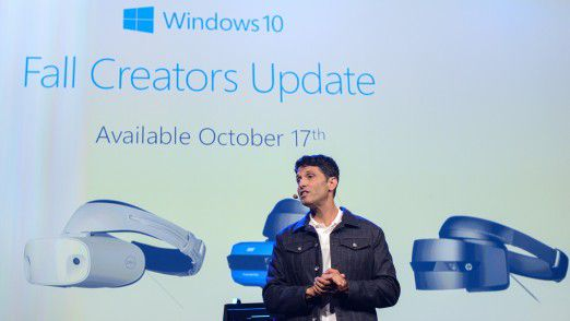 Terry Myerson, Executive Vice President Windows and Devices Group Engineering bei Microsoft auf der IFA.