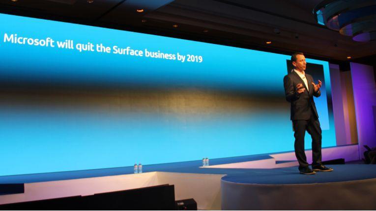 Steve Brazier, CEO bei Canalys, glaubt, dass Microsoft 2019 aus dem Hardware-Geschäft mit Surface-Produkten aussteigen wird.