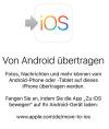 So wechseln Sie von Android zu iOS.
