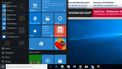 Windows 10: Liste mit installierten Apps im Windows-Startmenü ausblenden