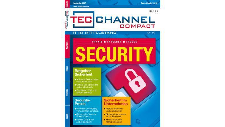 160 Seiten Security-Praxis und -Ratgeber im neuen TecChannel Compact September 2016.