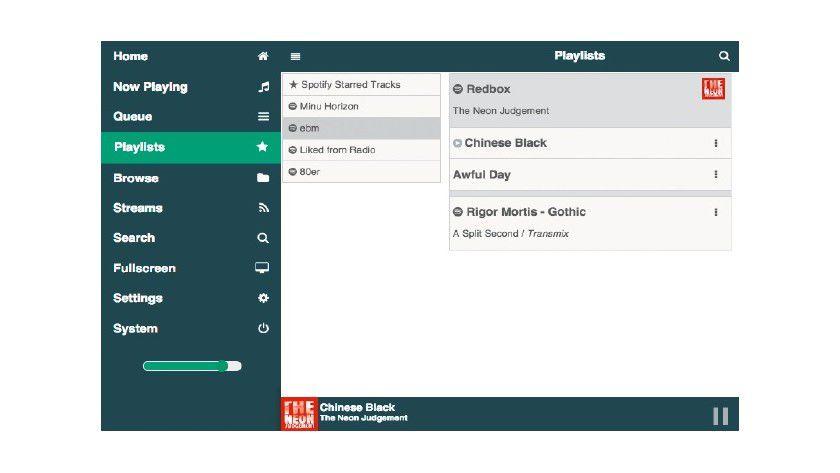 Sie nutzen Spotify-Premium? Dann greifen Sie über die Raspberry Musicbox direkt auf Ihre Pla-Listen zu.