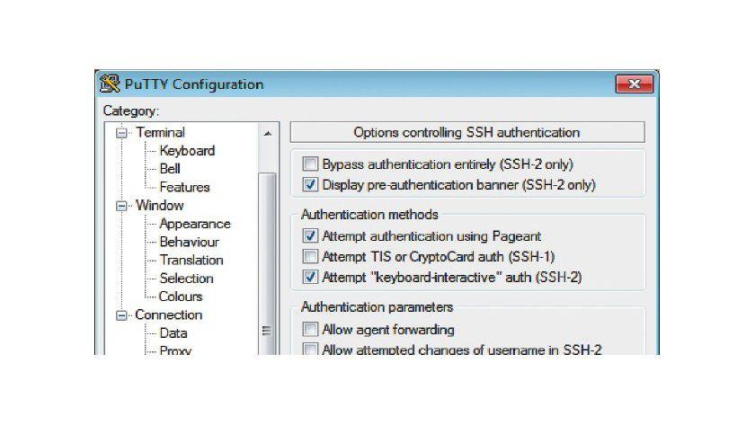Anmeldung per Schlüssel: Mit SSH sicher Daten übertragen.