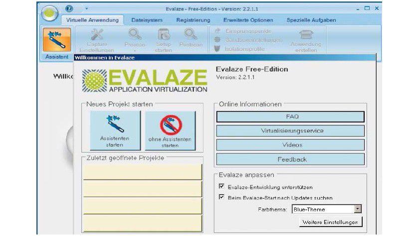 In Evalaze führt Sie ein Assistent durch die erforderlichen Schritte. Die individuelle Konfiguration ist nur in der Bezahlversion verfügbar.