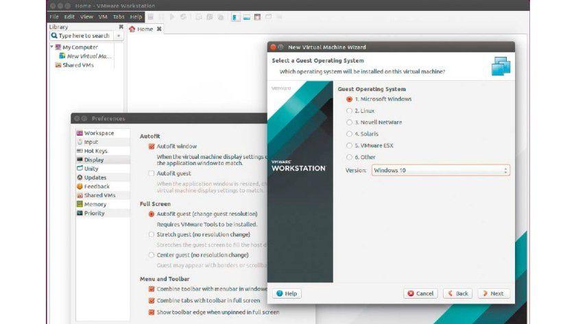 Die Vmware Workstation 12 stellt in Sachen Funktionsumfang, Leistung, aber auch bei ihrem Preis von 250 Euro die anderen, kostenlosen Virtualisierungslösungen in den Schatten.