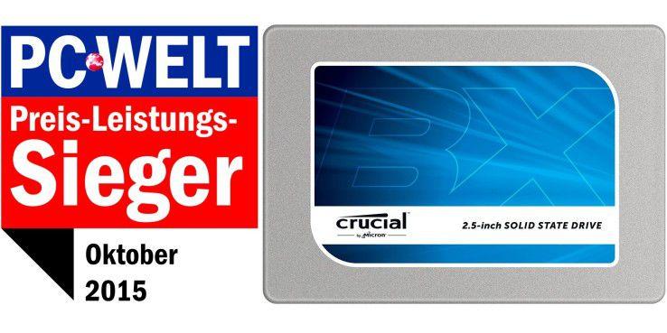 Preis-Leistungs-Sieger: Crucial BX100 500GB