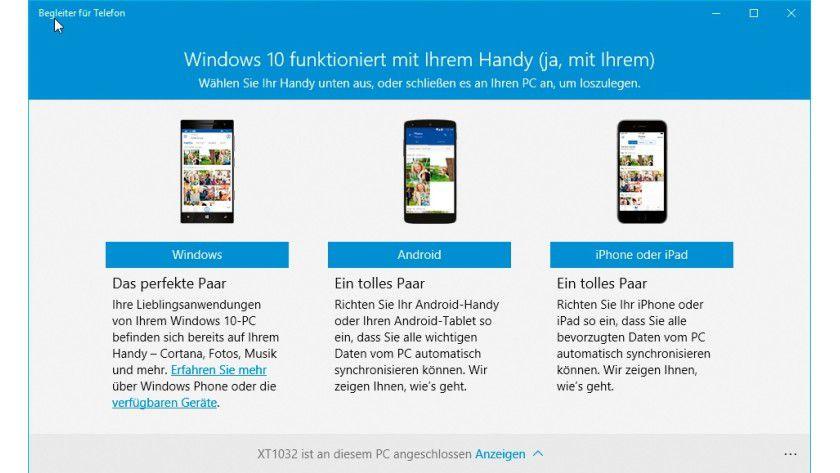 Im ersten Schritt wählen Sie aus, auf welchem mobilen Betriebssystem Ihr Smartphone basiert.