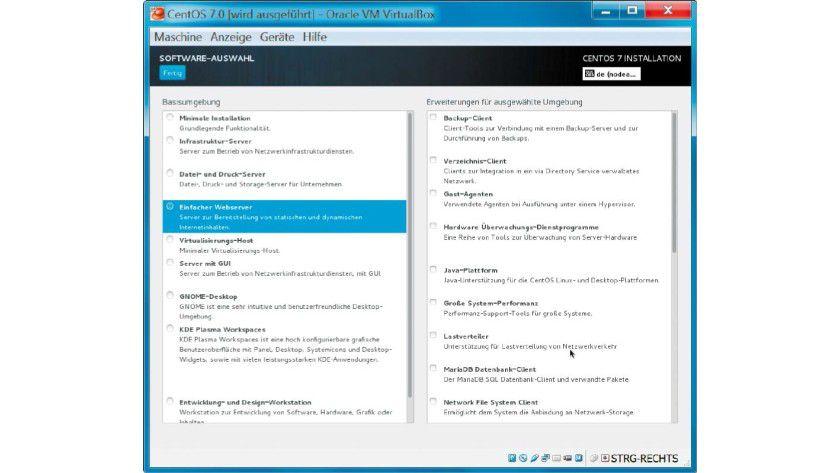 Die Installation der Linux-Distribution Cent OS innerhalb einer virtuellen Maschine ist mit Virtualbox schnell erledigt.