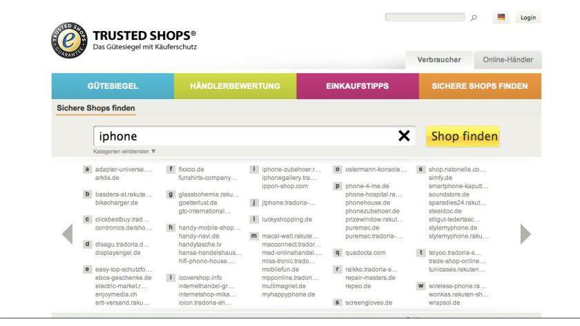 Trusted Shops bietet einen Käuferschutz für alle Online-Händler und prüft viele Qualitätskriterien beim Einkauf. Die Webseite hilft dabei, geprüfte und sichere Händler zu finden.
