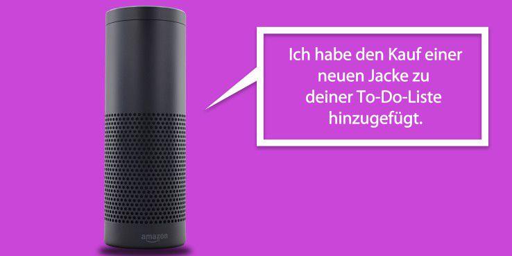 To-Do-Listen und Einkaufslisten sind für Alexa zwei verschiedene Dinge.