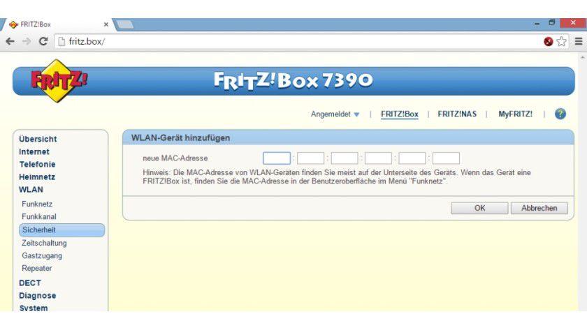 Jeder Router bringt heute einen MAC-Filter mit, über den Sie den Zugriff auf das WLAN auf bestimmte Geräte beschränken können. Vor Hackern schützt diese Funktion allerdings nicht.