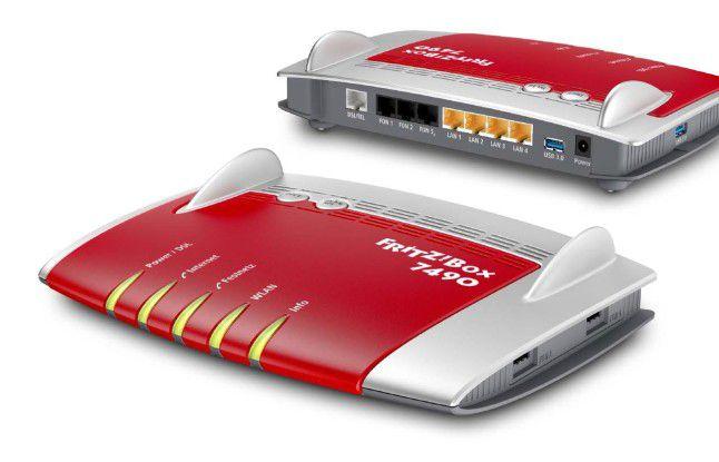 Die Fritzbox 7490 fungiert auch als Mediaserver für Musik, Bilder und Filme.