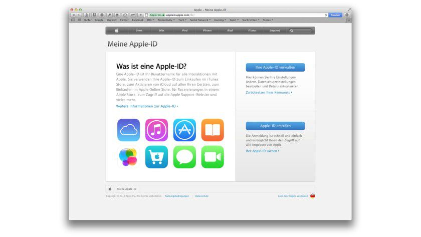 Die beste Anlaufstelle für die neue Authentifizierung ist die Webseite appleid.apple.com