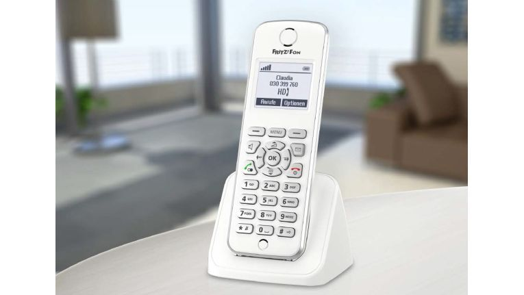 Das Fritz Phone C4 besitzt eine ergonomisch gestaltete, beleuchtete Tastatur.