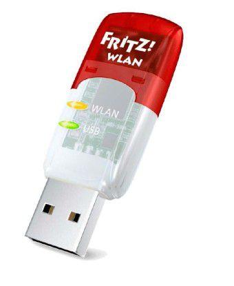 Fritz WLAN Stick AC 430: Der USB-Funknetzadapter spielt sein maximales Übertragungstempo von bis zu 433 MBit/s mit einem AC-Router wie der Fritzbox 7490 aus.