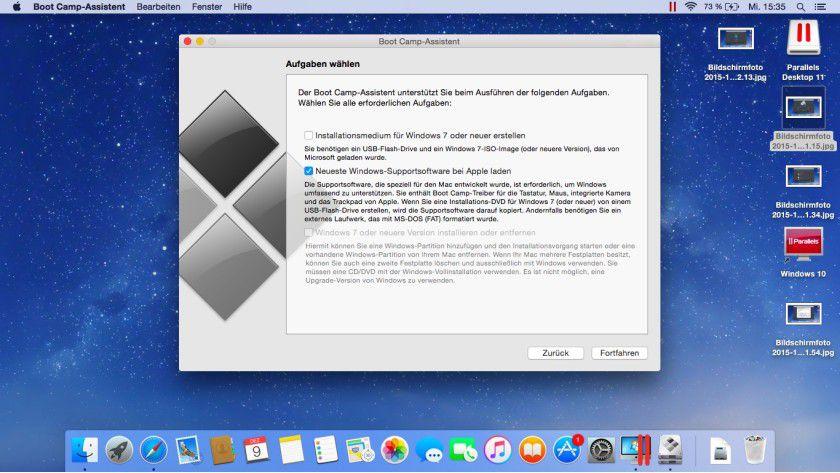 Mit Bootcamp 6 können Sie Windows 10 auf Mac-Hardware installieren, und dabei alle Features und Hardware nutzen