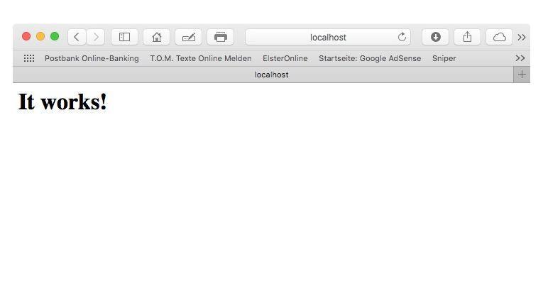 """Alle Mac OS X-Versionen besitzen einen eingebauten Apache-Webserver. Der muss nur über die Systemeinstellungen oder, seit Mac OS X 10.7, über das Terminal mit dem Befehl """"sudo apachectl start"""" gestartet und mit """"sudo apachectl stop"""" beendet werden."""