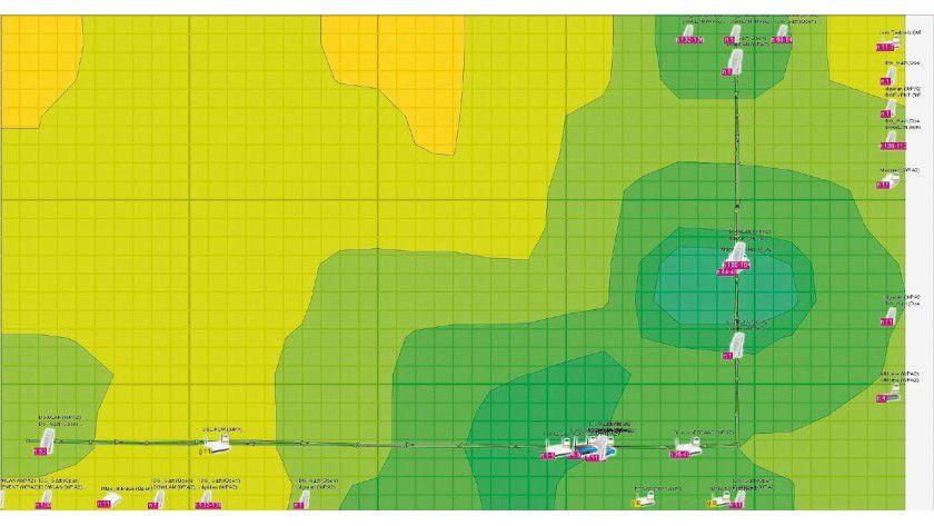 Das Tool Heatmapper zeigt Ihnen auf einen Blick, wo WLAN-Schwachstellen liegen.