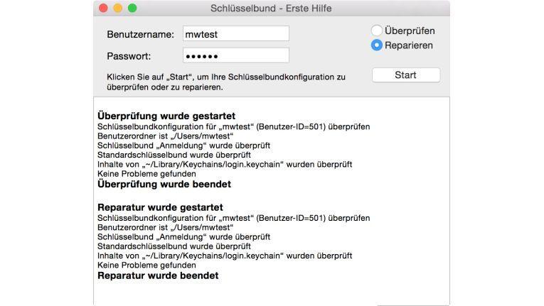 Falls bei Ihrem Mac einmal Probleme mit den gespeicherten Kennwörtern auftauchen, sollten Sie erst einmal die Schlüssenbunddatei überprüfen. Bei Fehlern können Sie sie auch reparieren lassen.