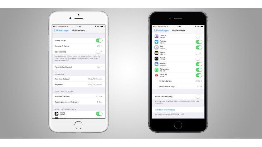 Hier lässt sich das Nutzungsverhalten der einzelnen Apps verwalten.