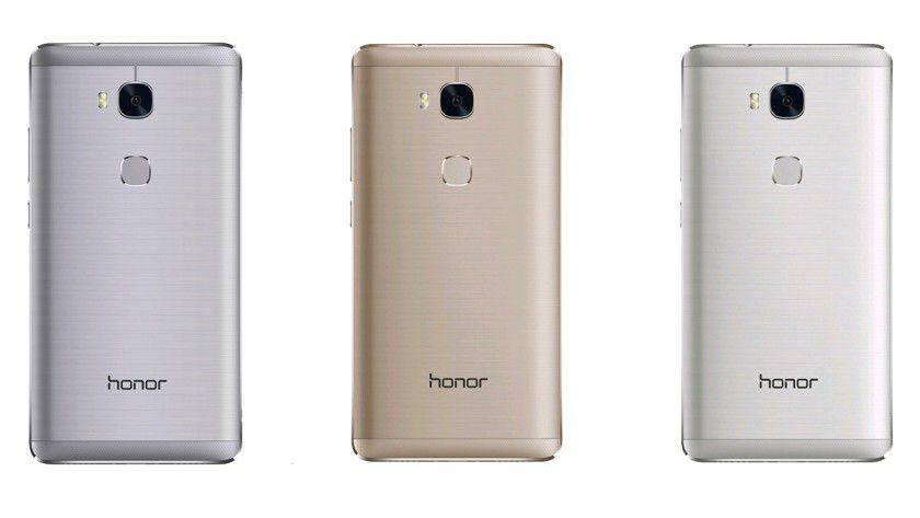 Das Honor 5X gibt es in den drei Farben Grau, Gold und Silber zu kaufen.