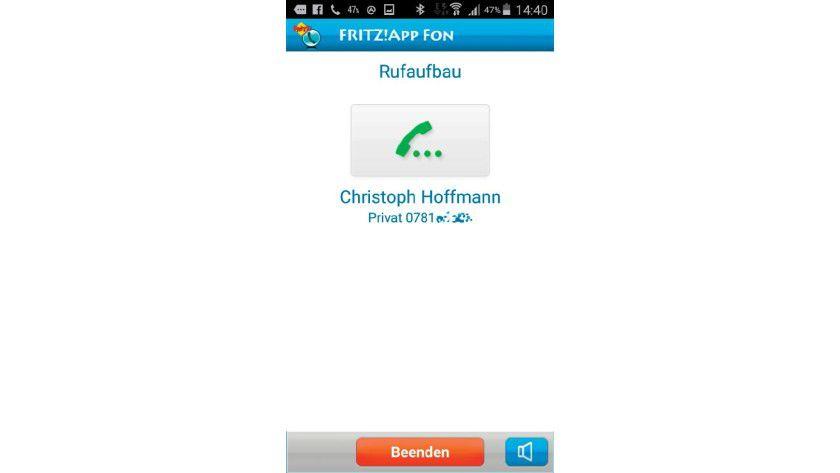 Telefonieren mit der Fritz!App Fon