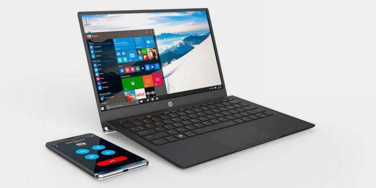 Das HP Elite X3 wird mit Hilfe des Mobile Extenders zum Windows-10-Notebook.